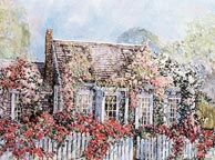 Nantucket Rose Cottage by William Welch
