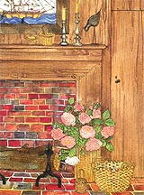 Nantucket Fireplace by Victoria Elbroch